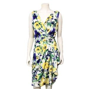 Lauren Ralph Lauren Floral Print Ruched Dress | 14